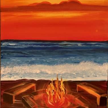 Beach Pit Fire