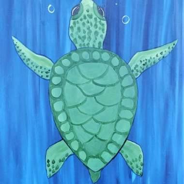 Sea Turtle - Painting & Kiddos