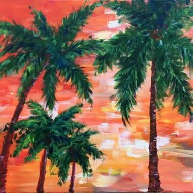 'Impressionist Palms'