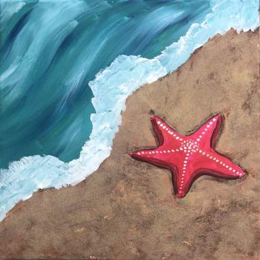Starfish on the Sand - Painting & Kiddos