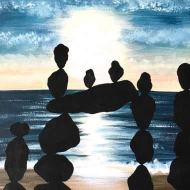 Balancing Rocks with Erin