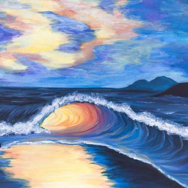 'Sunset Waves'