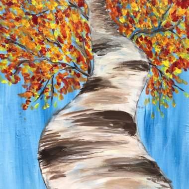 'Autumn Birch' -Live Online Event