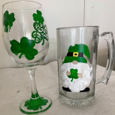 ''St Pats Wine and Beer Mug