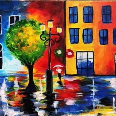 'Vibrant Cityscape'