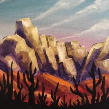'Living Desert' - Painting & Brews