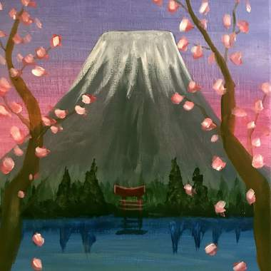 'Cherry Blossoms' - Painting & Brews